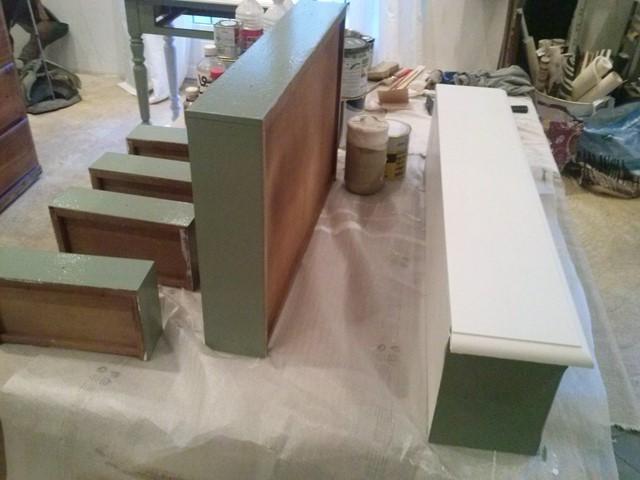 Petit meuble pendant relooking chaux room