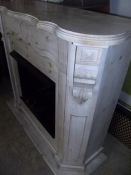 Cheminée bois avant relooking faux marbre chaux room