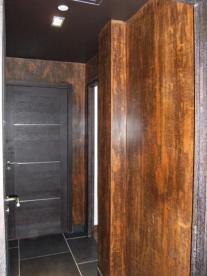Décoration à la Chaux rouille effet bois par chaux room
