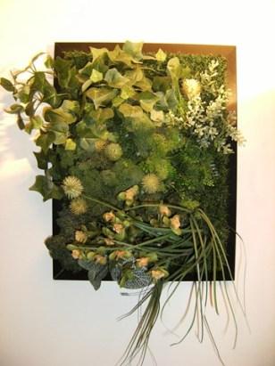 Cadre végétal en feuillages artificiels So vegetals chez Chaux room