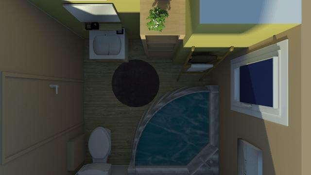 Visuel réagencement salle de bain Chaux Room