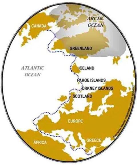 Atlantis localizado no Mar Mediterrâneo...
