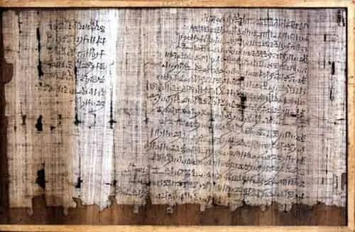 O documento foi descoberto no século 19 pelo pesquisador britânico Henry Salt.