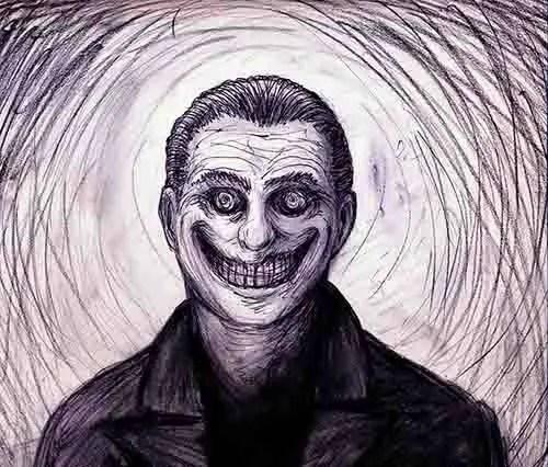 Indrid Cold - o homem sorridente