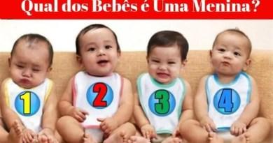 Teste Psicológico Adivinhe Quem Dos 4 Bebês é Uma Menina