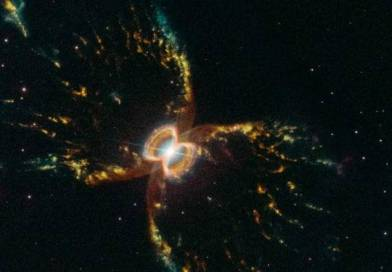 O telescópio Hubble divulgou uma imagem inédita da nebulosa do Caranguejo do Sul para comemorar seus 29 anos no espaço