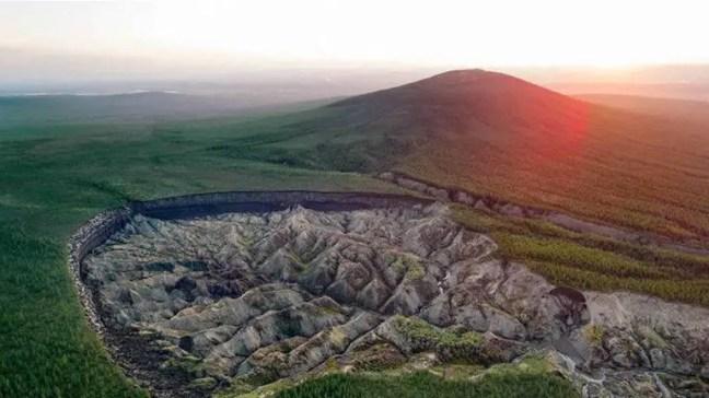 A cratera de Batagaika