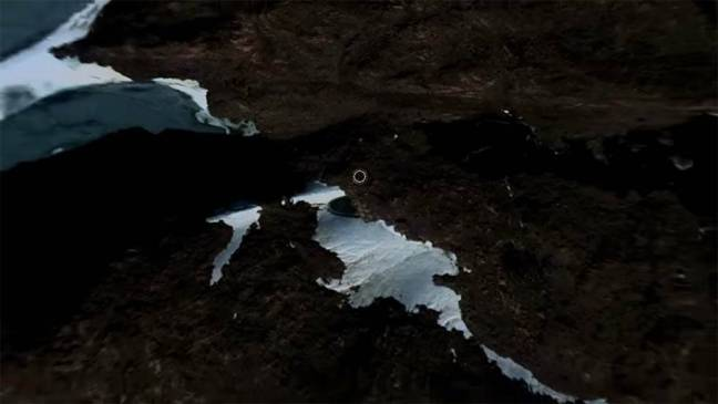 Um misterioso objeto circular encontrado na Antártica pelo Google Maps