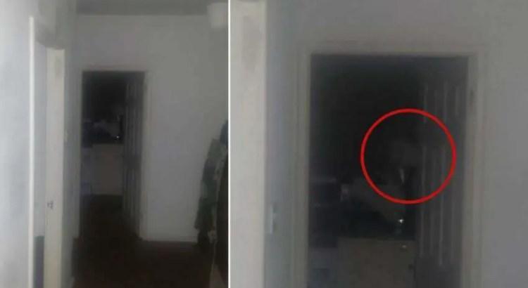Um homem foge de casa depois de fotografar um fantasma olhando para ele