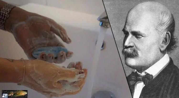 Entre as grandes contribuições de Ignaz Semmelweis está a promoção da lavagem das mãos para evitar infecções. Ele foi acusado de insanidade e enviado para o asilo.