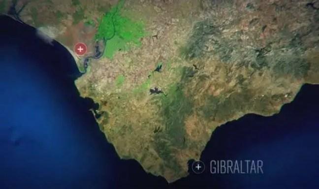 Mapa da costa espanhola