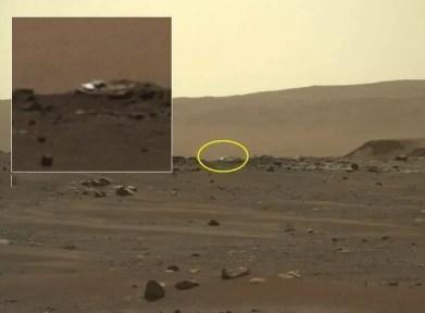 Objeto brilhante em Marte.