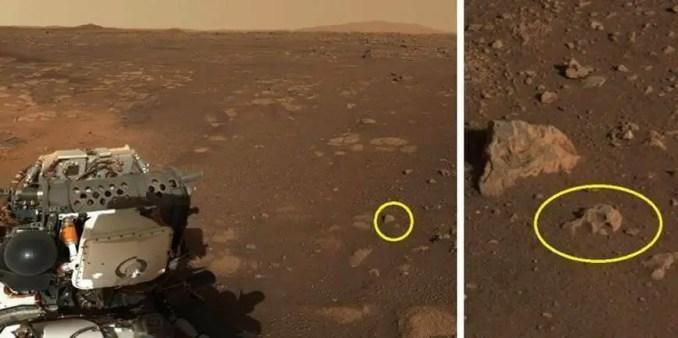 Outro objeto anômalo em Marte que foi designado como um crânio, mas que seria apenas o efeito de pareidolia.