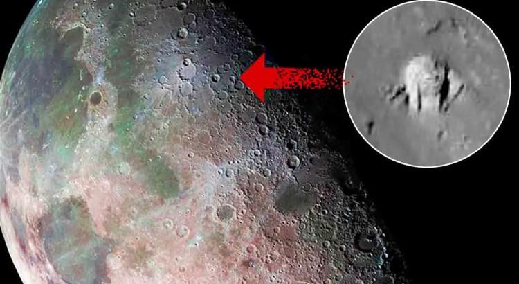 Uma misteriosa estrutura fotografada na cratera Aristarchus na lua