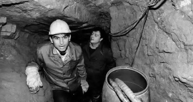 Equipe de escavação.
