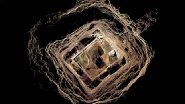 Representação da espiral escavada na Bulgária.