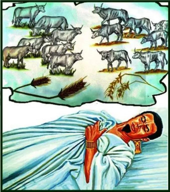 A profecia das 7 vacas no egito.