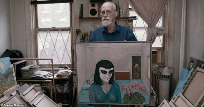 David Huggins, 74, pintou mais de 100 obras.