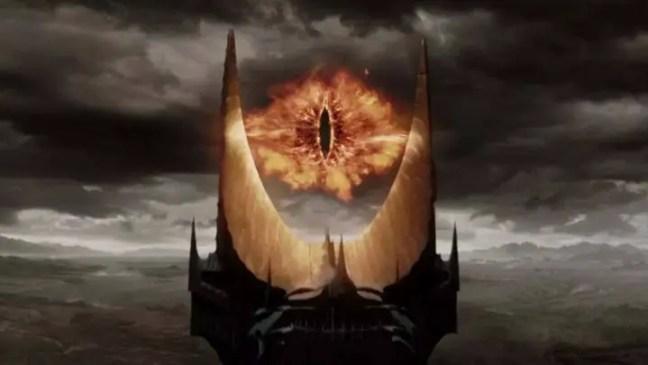 Olho de Sauron no filme O Senhor dos Anéis.
