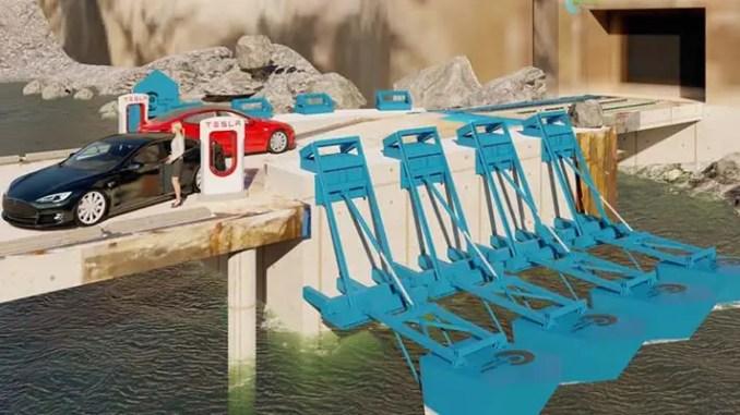 Os geradores Eco Wave Power podem operar com ondas de até um metro de altura.