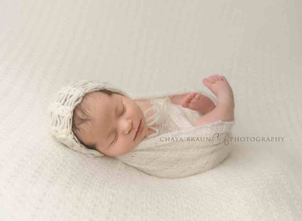 sleepy newborn baby