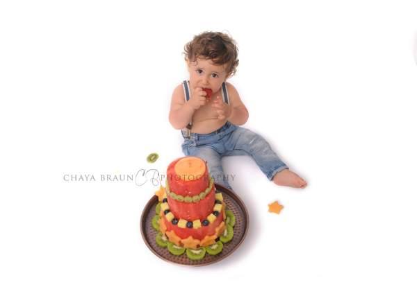 first birthday fruit melon cake
