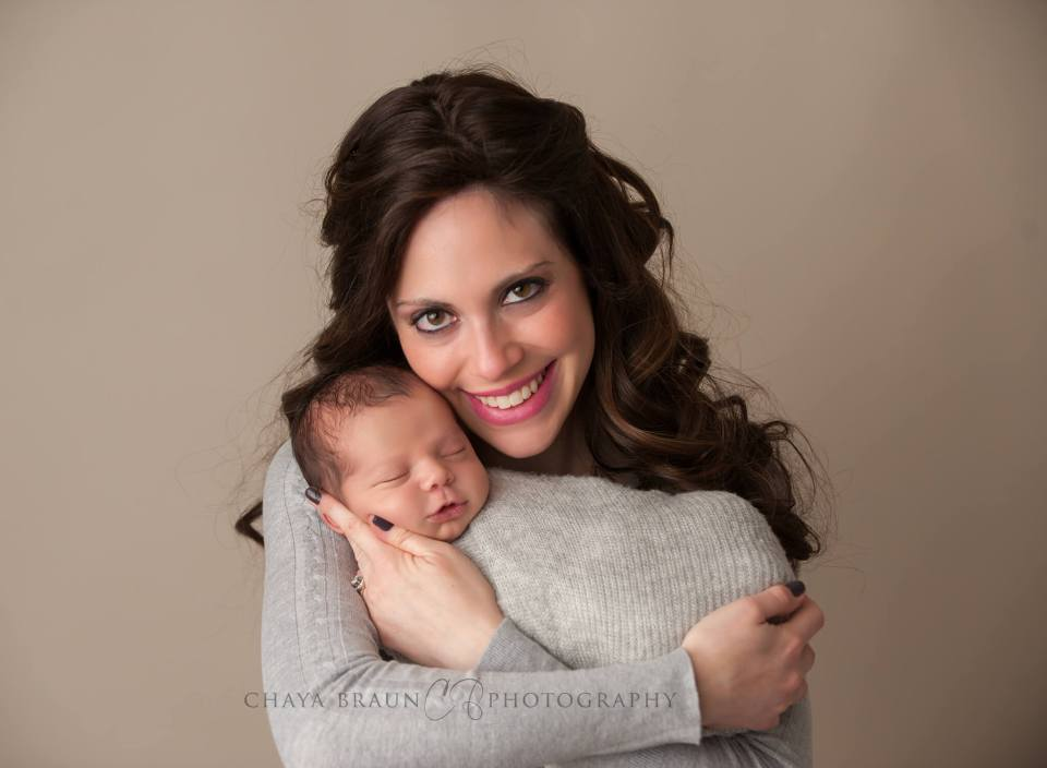 mother and newborn baby photo
