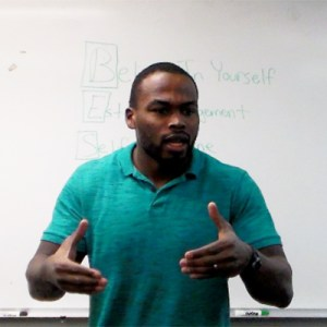 Chaz Jackson Motivational Youth Speaker Speaking at South College of Asheville (PTA Students)