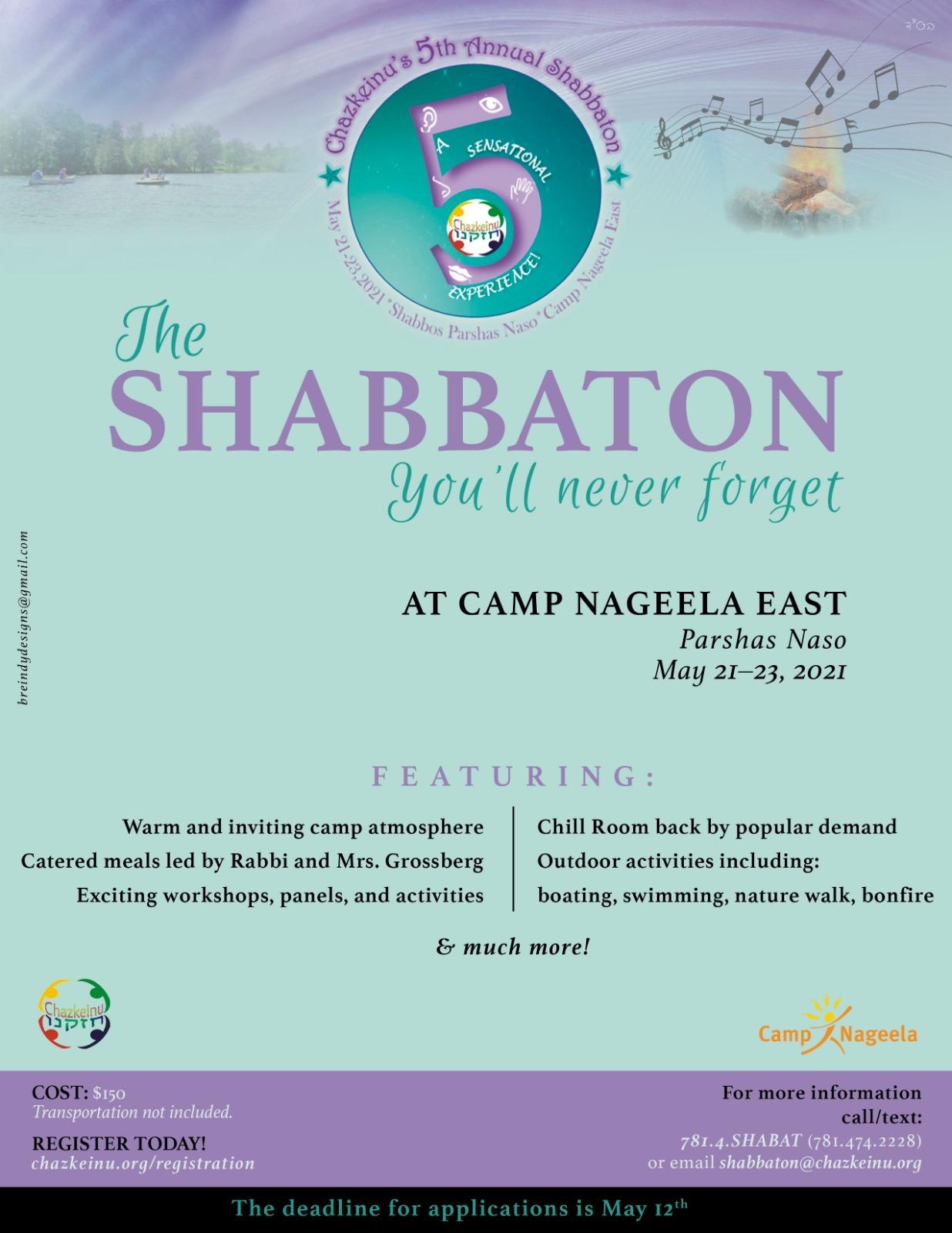 Newsletter Shabbaton 2021
