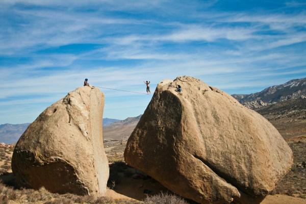 Bishop Bouldering And Highline Van Travel