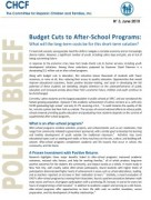 5. CHCF - Budget Cuts to After-School Programs (June 2010)