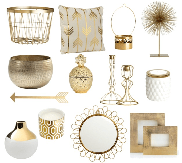 Gold Home Decor Accessories Trend A Touch Of