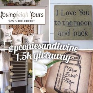 Its giveaway time!! Help my friend Lara peoniesandtwine celebrate reachinghellip