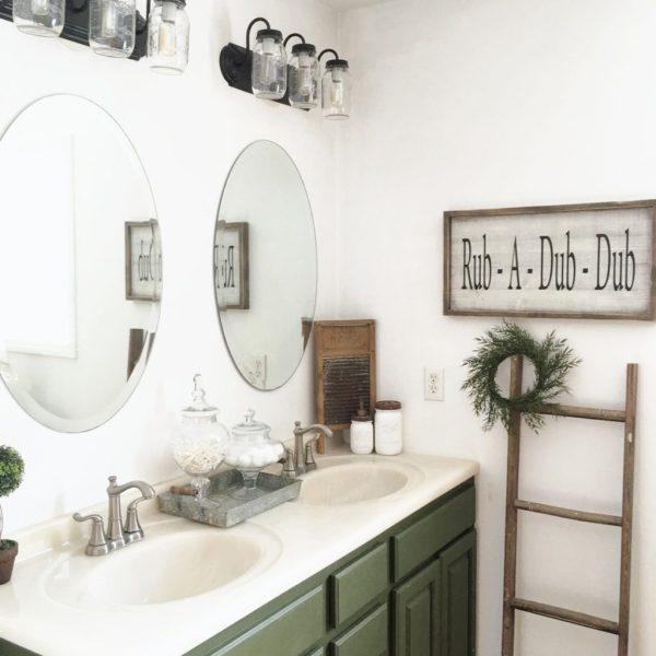 Adding Some Farmhouse Touches To Our Master Bath - Adding a master bathroom