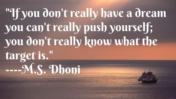 M.S Dhoni