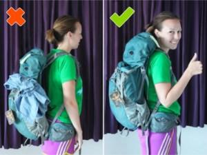 holding backpacks