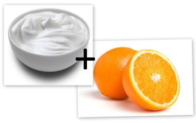 Orange juice and yogurt