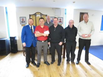 Mark Gregory, Jim Hall, Pete Dawes and Brian Combe Sunday Texas Scramble winners