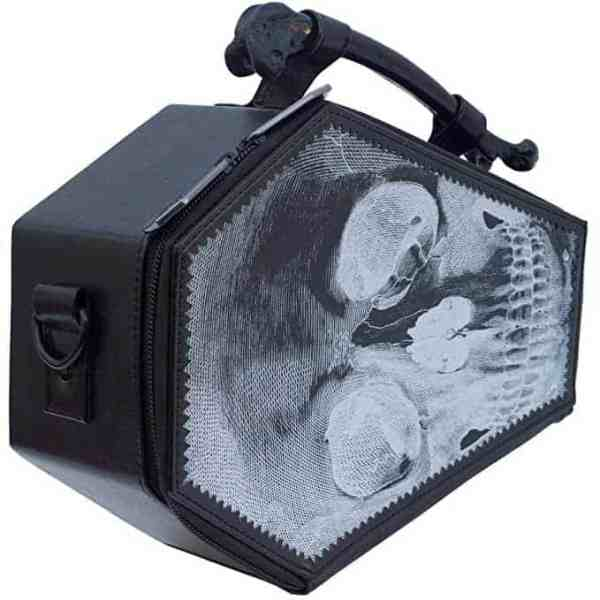 Goths love coffins - why not get them a coffin bag like this?
