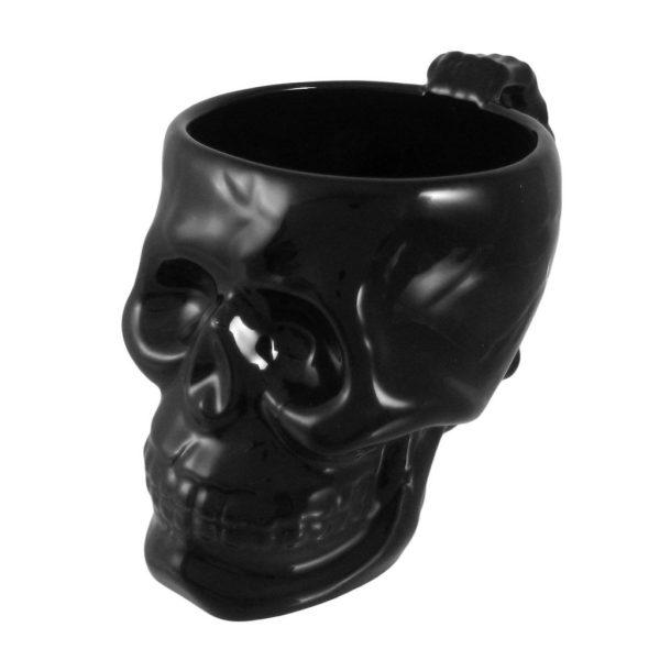 Goth skull mugs will delight any hot beverage drinker