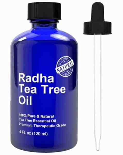 I love this Tea Tree Oil from Radha. You get a huge 4oz bottle with it's own dropper. And it's such a great value!
