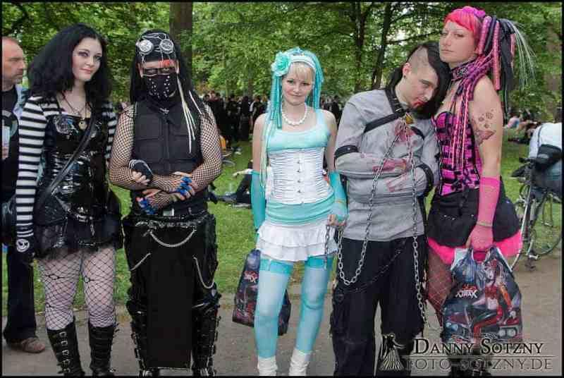 Goths don't only wear black