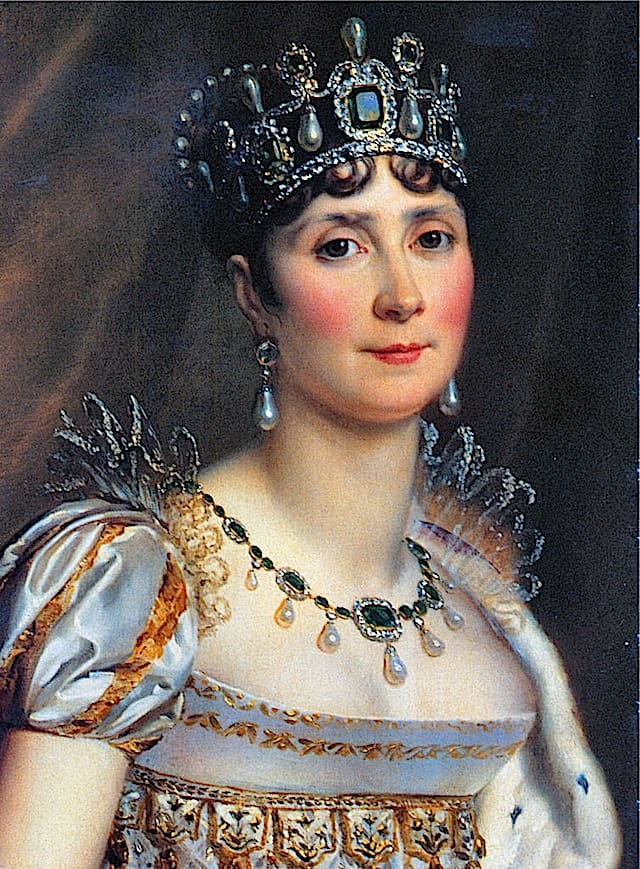 It is claimed that Napoleon's 1st wife, Queen Josephine was the first person to use eye pads like these!