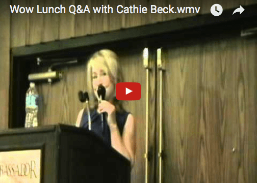 Wow Lunch Q&A with Cathie Beck
