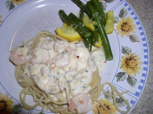 Shrimp with Ricotta Sauce