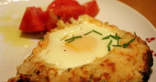 Rosti Casserole with Baked Eggs