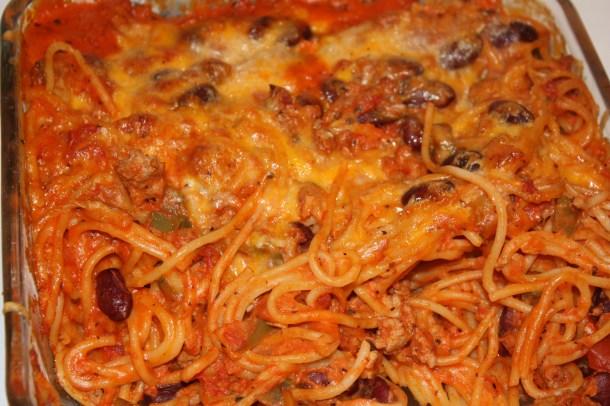 maybe mom's baked spaghetti