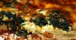 Spinach, Bacon and Cheese Quiche Recipe