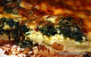 Spinach, Bacon and Cheese Quiche Recipe