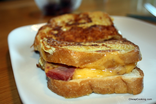 Grilled Ham and Cheese Meets French Toast